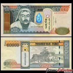 MONGOLIE - Billet de 10000 Tögrög - Gengis Khan - 2009 P69b