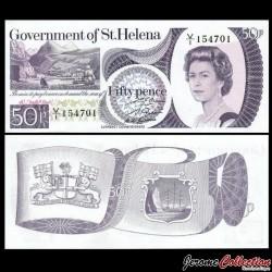 SAINT HELENE - Billet de 50 Pence - 1979