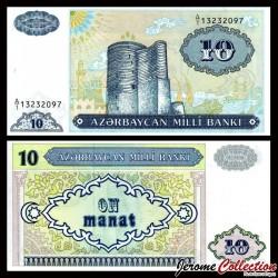 AZERBAIDJAN - Billet de 10 Manat - Tour de la jeune fille, Bakou - 1993 P16a