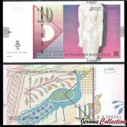 MACEDOINE DU NORD - Billet de 10 Denari - 2006