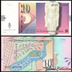 MACEDOINE DU NORD - Billet de 10 Denari - 2011