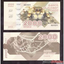 ELOBEY CHICO - Billet de 2000 Ekuele - 2016