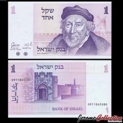 ISRAEL - Billet de 1 Sheqel - Moïse Montefiore - 1978 P43a