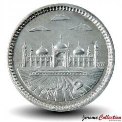 PAKISTAN - PIECE de 2 Roupies - Mosquée Badshahi - 2013 Km#68