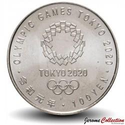 JAPON - PIECE de 100 Yen - Jeux Olympique 2020, Tokyo - Canoë - 2019