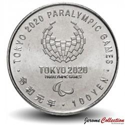 JAPON - PIECE de 100 Yen - Jeux paralympiques 2020, Tokyo - Tir à l'arc - 2019