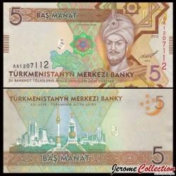 TURKMENISTAN - Billet de 5 Manat - 2012 P30a