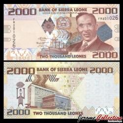 SIERRA LEONE - Billet de 2000 Leones - 27.04.2016 P31c