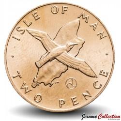 ILE DE MAN - PIECE de 2 Pence - Puffin des Anglais - 1979
