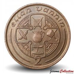 ILE DE MAN - PIECE de 2 Pence - 1993 Km#208