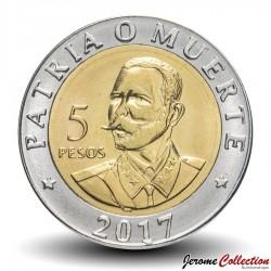 CUBA - PIECE de 5 Pesos - Antonio Maceo - Bimétal - 2017 Km#new