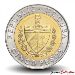 CUBA - PIECE de 5 Pesos - Antonio Maceo - Bimétal - 2017