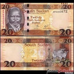 SUD SOUDAN - BILLET de 20 Livres Soudanaise - 2017 P13c