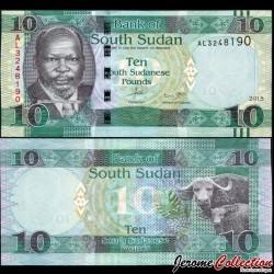 SUD SOUDAN - BILLET de 10 Livres Soudanaise - 2015