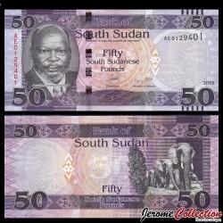 SUD SOUDAN - BILLET de 50 Livres Soudanaise - 2015 P14a