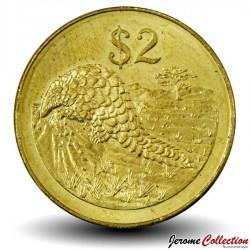 ZIMBABWE - PIECE de 2 Dollars - Pangolin - 2001