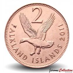 MALOUINES / FALKLAND - PIECE de 2 Pence - Ouette de Magellan - 2011 Km#131