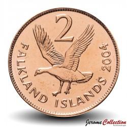 MALOUINES / FALKLANDS - PIECE de 2 Pence - Ouette de Magellan - 2004