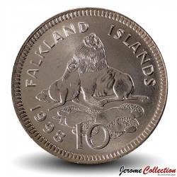 MALOUINES / FALKLAND - PIECE de 10 Pence - Otaries - 1998 Km#5.2