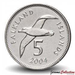 MALOUINES / FALKLANDS - PIECE de 5 Pence - Albatros - 2004