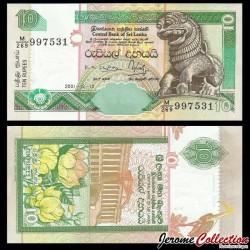 SRI LANKA - Billet de 10 Roupies - 2001 P108b