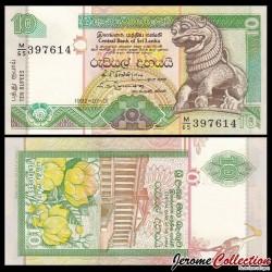 SRI LANKA - Billet de 10 Roupies - 1992 P102b