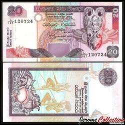 SRI LANKA - Billet de 20 Roupies - 1995 P109a