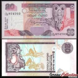 SRI LANKA - Billet de 20 Roupies - 2001 P109b