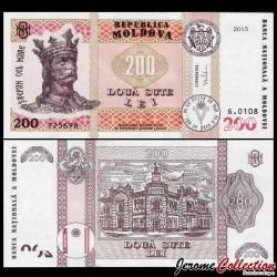 MOLDAVIE - Billet de 200 LeI - Mairie de Chişinău - 2015