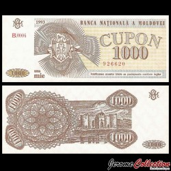 MOLDAVIE - Billet de 1000 Cupon - Forteresse de Soroca - 1993 P3a