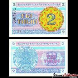 KAZAKHSTAN - Billet de 2 Tiyn - 1993 P2d