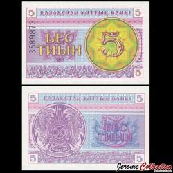 KAZAKHSTAN - Billet de 5 Tiyn - 1993 P3b