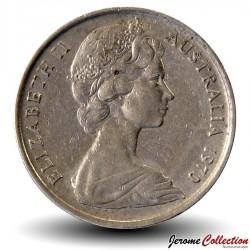 AUSTRALIE - PIECE de 10 Cents - Oiseau Ménure superbe - 1970