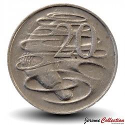 AUSTRALIE - PIECE de 20 Cents - Un ornithorynque - 1970 Km#66