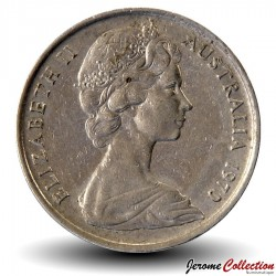 AUSTRALIE - PIECE de 20 Cents - Un ornithorynque - 1970