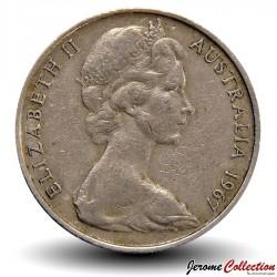 AUSTRALIE - PIECE de 20 Cents - Un ornithorynque - 1967