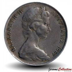 AUSTRALIE - PIECE de 10 Cents - Oiseau Ménure superbe - 1967