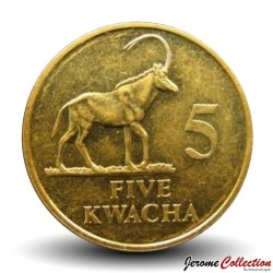 ZAMBIE - PIECE de 5 Kwacha - Oryx - 1992 Km#31