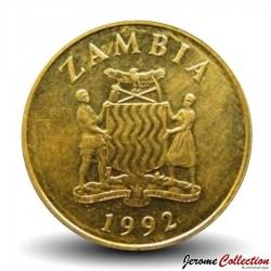 ZAMBIE - PIECE de 5 Kwacha - Oryx - 1992