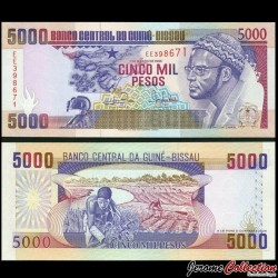 GUINEE BISSAU - Billet de 5000 Pesos - Amilcar Cabral - 1993