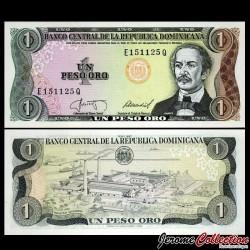 REPUBLIQUE DOMINICAINE - Billet de 1 PESO ORO - 1987 P126b2