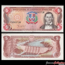 REPUBLIQUE DOMINICAINE - Billet de 5 PESOS ORO - 1996 P152a