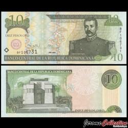 REPUBLIQUE DOMINICAINE - Billet de 10 PESOS ORO - 2000 P165a