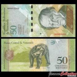 VENEZUELA - Billet de 50 Bolivares - 03.02.2011 P92e