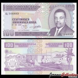 BURUNDI - Billet de 100 Francs - 2001 P37c