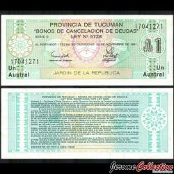 ARGENTINE - Provincia de Tucuman - Billet de 1 Austral - 1991 S2711b1