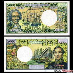 Territoires Français du Pacifique - Billet de 5000 Francs - 2007 P3i