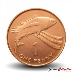 SAINTE-HÉLÈNE ET ASCENSION - PIECE de 1 Penny - Thon - 1997 Km#13a