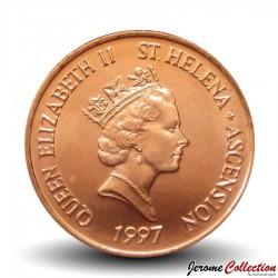 SAINTE-HÉLÈNE ET ASCENSION - PIECE de 1 Penny - Thon - 1997