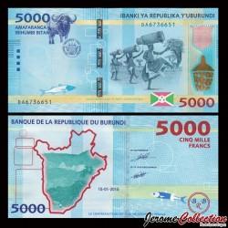 BURUNDI - Billet de 5000 Francs - 2015 P53a